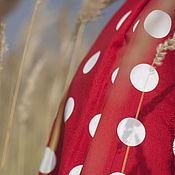 """Одежда ручной работы. Ярмарка Мастеров - ручная работа Платье """"Красное в горох"""". Handmade."""