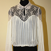 Одежда ручной работы. Ярмарка Мастеров - ручная работа Шелковая блузка Эксклюзив. Handmade.