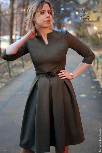 Платья ручной работы. Платье  офис - длинное платье осеннее. Роскошь платья.