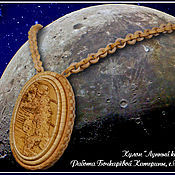 """Украшения ручной работы. Ярмарка Мастеров - ручная работа Кулон """"Лунный Камень"""" Берестяная скань, береста. Handmade."""