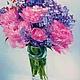 Картины цветов ручной работы. Пионовая жизнь. K&ART. Ярмарка Мастеров. Картина с пионами, загородный дом