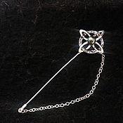 Украшения handmade. Livemaster - original item Brooch of silver with pearls. Handmade.