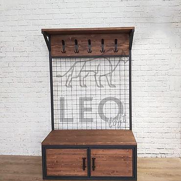 Мебель ручной работы. Ярмарка Мастеров - ручная работа Вешалка в стиле лофт LF-143. Handmade.