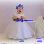 Работы для детей, ручной работы. Ярмарка Мастеров - ручная работа Нежный белоснежный наряд с цветами.. Handmade.