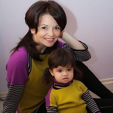 Одежда ручной работы. Ярмарка Мастеров - ручная работа Комплект для мамы и дочки.. Handmade.