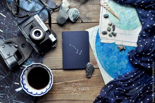 """Блокноты ручной работы. Ярмарка Мастеров - ручная работа. Купить Тетрадь """"Ночь"""" Deep blue А6. Handmade. Тёмно-синий"""