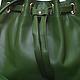 Женские сумки ручной работы. Маленькая яркая сумочка из натуральной кожи.. Мастер Корб. Ярмарка Мастеров. Зеленая сумка