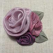 Аксессуары ручной работы. Ярмарка Мастеров - ручная работа брошь текстильная. Handmade.