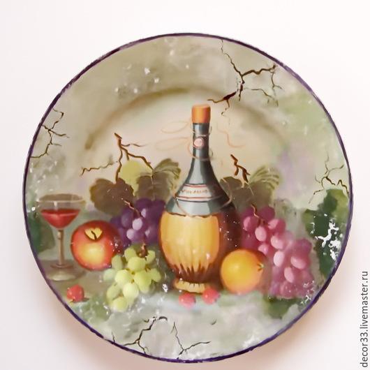Декоративная посуда ручной работы. Ярмарка Мастеров - ручная работа. Купить Тарелка декоративная Вкусные штучки. Handmade. Разноцветный, подарок