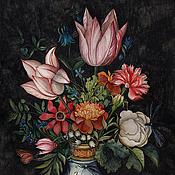 Картины и панно ручной работы. Ярмарка Мастеров - ручная работа Картина акварелью Копия Ambrosius Bosschaert 16 век. Handmade.