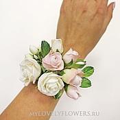 Свадебный салон ручной работы. Ярмарка Мастеров - ручная работа Браслет с розами из полимерной глины. Handmade.