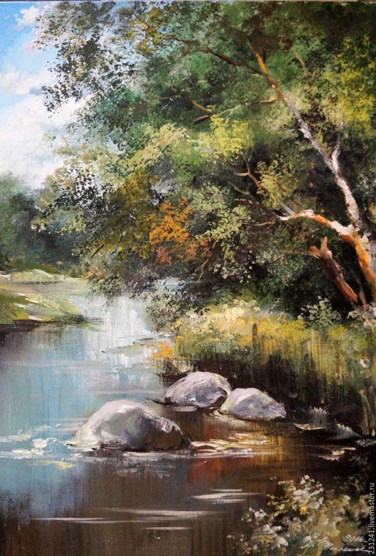 Тепляшова Елена `Летний день у реки`