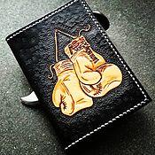 Канцелярские товары handmade. Livemaster - original item Personalized leather passport cover, passport cover. Handmade.