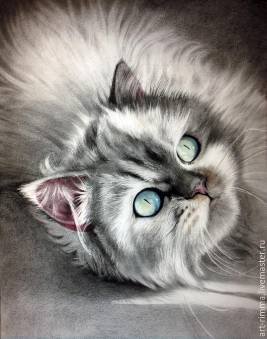 Животные ручной работы. Ярмарка Мастеров - ручная работа. Купить Кошка.. Handmade. Портрет животного, портрет кошки, подарок для девочки
