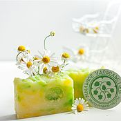Soap handmade. Livemaster - original item Handmade soap from scratch with natural Chamomile floral white wreath. Handmade.