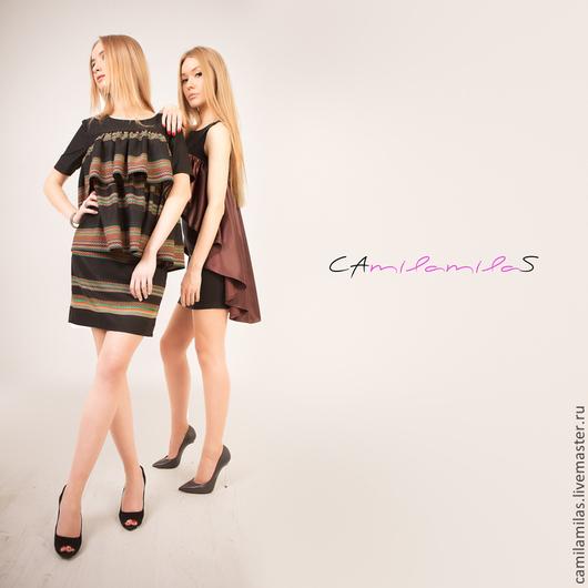 Платье из костюмной ткани (шерсть) 4.500 /Италия. Платье из трикотажа со шлейфом (атлас) 6.000 рублей/ Италия.