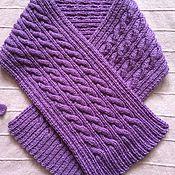 Работы для детей, handmade. Livemaster - original item Scarf knitted with braids. Handmade.