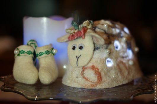 Освещение ручной работы. Ярмарка Мастеров - ручная работа. Купить Овечка-светильник. Handmade. Разноцветный, светильник из шерсти, овечка-игрушка
