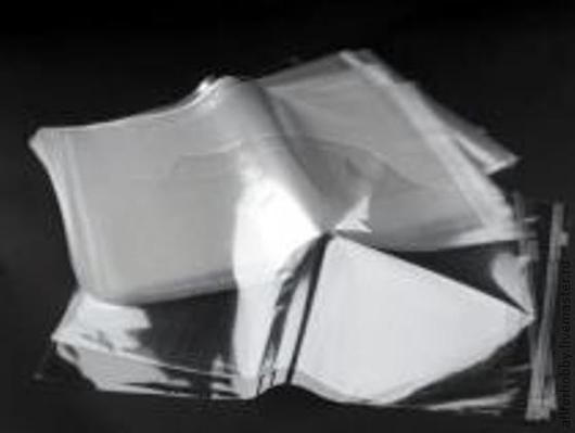 Упаковка ручной работы. Ярмарка Мастеров - ручная работа. Купить Пакетики полиэтиленовые 32х41 см с клейкой лентой. Handmade. Скрапбукинг