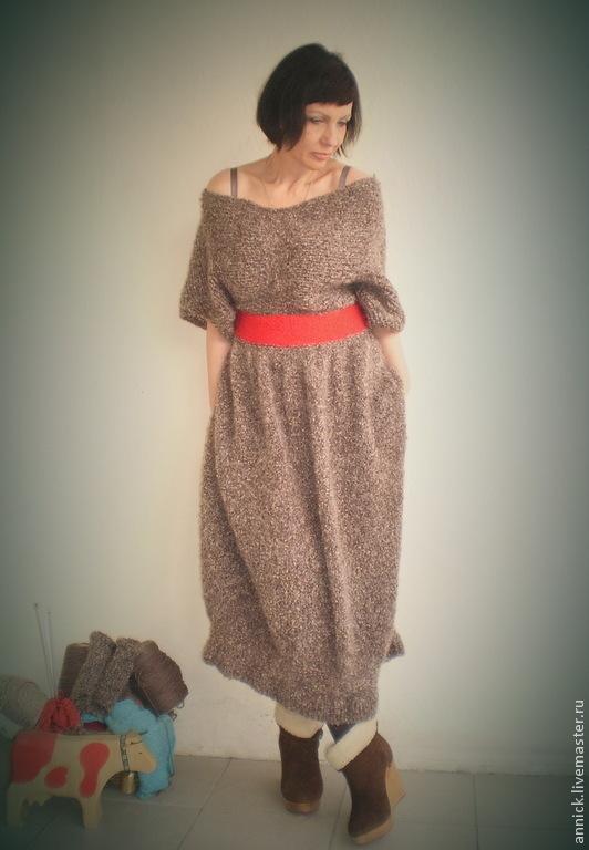 Теплое вязаное платье, Платья, Москва,  Фото №1
