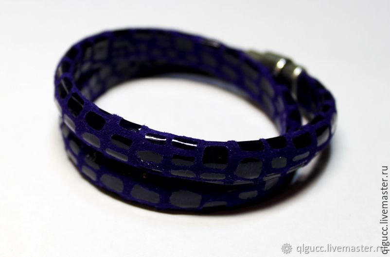 Браслет  Регализ фиолетовый намотка