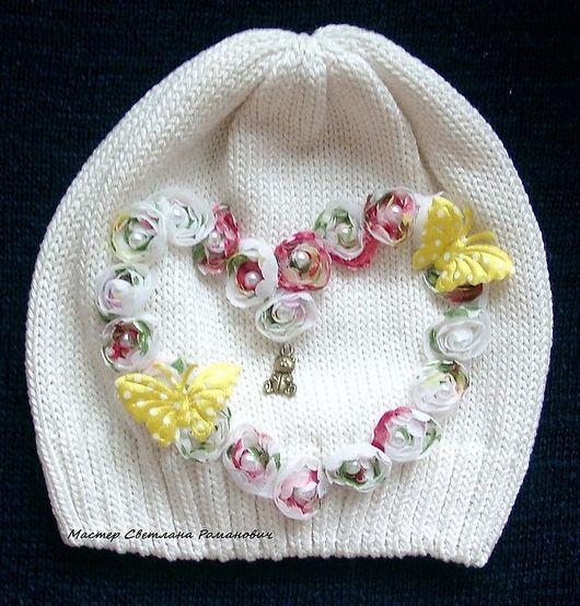 Шапки и шарфы ручной работы. Ярмарка Мастеров - ручная работа. Купить Летняя шапочка для маленькой девочки. Handmade. Летняя шапочка