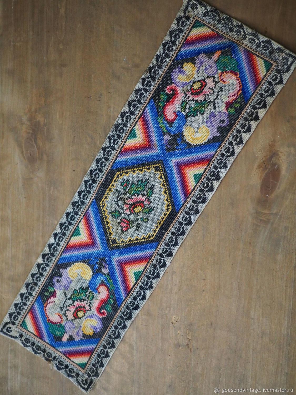 Hand-embroidered track, vintage, Vintage interior, St. Petersburg,  Фото №1