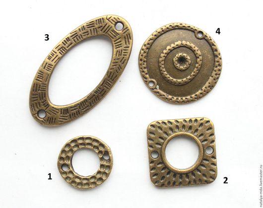 Для украшений ручной работы. Ярмарка Мастеров - ручная работа. Купить Коннектор античная бронза Б-8. Handmade. Хаки