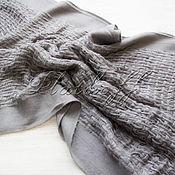 Аксессуары handmade. Livemaster - original item Italian stylish grey scarf