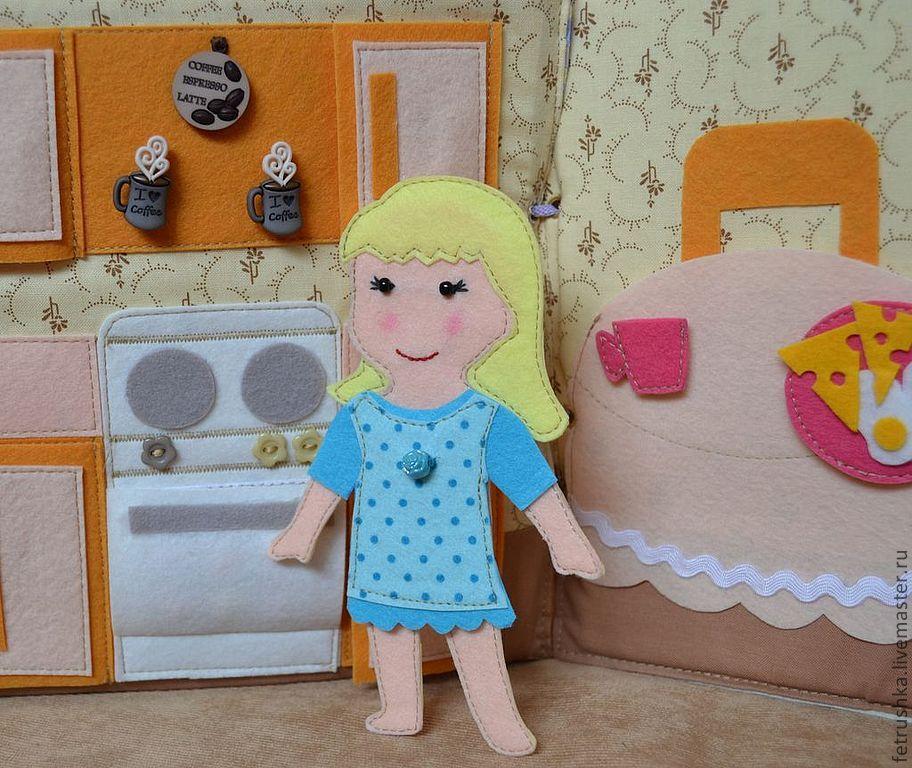 Домик для кукол из фетра