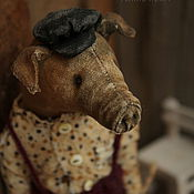 Куклы и игрушки handmade. Livemaster - original item Pig Nicolas with horse.... Handmade.