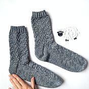 Аксессуары ручной работы. Ярмарка Мастеров - ручная работа Женские вязаные носки с узором из твида. Handmade.