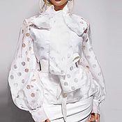 Блузки ручной работы. Ярмарка Мастеров - ручная работа Белая блузка. Handmade.