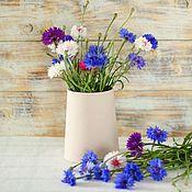 Для дома и интерьера ручной работы. Ярмарка Мастеров - ручная работа Фарфоровая ваза (розовая ваза). Handmade.