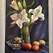 """Картины ручной работы. Ярмарка Мастеров - ручная работа Картина маслом """"Лилии"""". Handmade."""