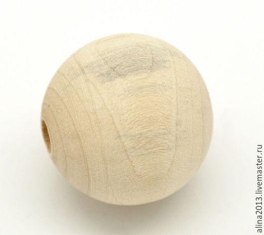 Бусины деревянные 20мм