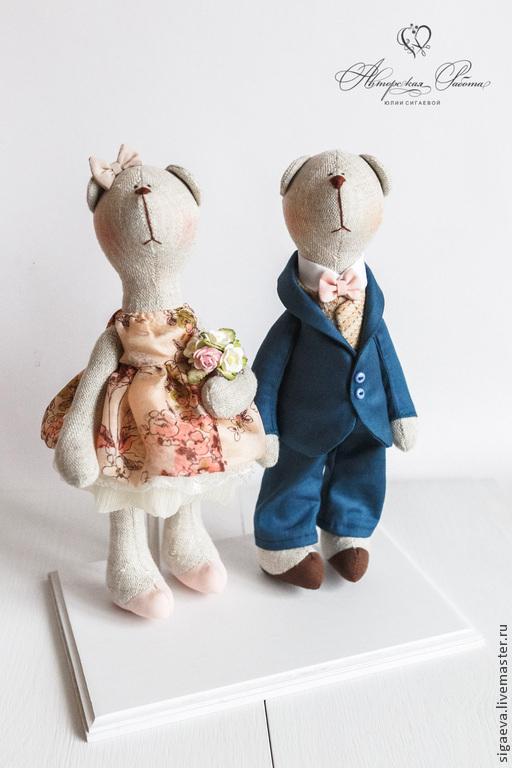 Куклы Тильды ручной работы. Ярмарка Мастеров - ручная работа. Купить Romantic Bears. Handmade. Свадебные мишки, тильда мишка