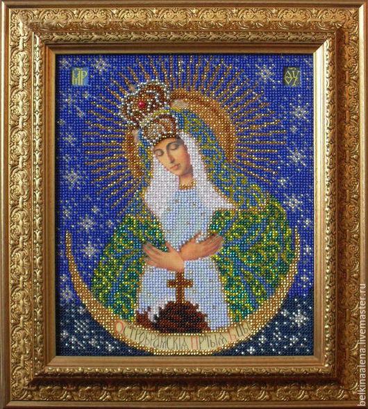 """Иконы ручной работы. Ярмарка Мастеров - ручная работа. Купить Икона """"Остробрамская богородица"""". Handmade. Комбинированный, икона в подарок"""