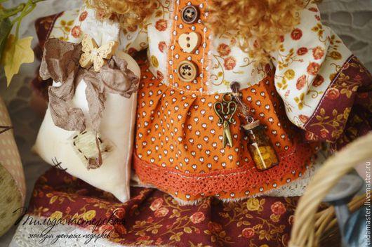 """Куклы Тильды ручной работы. Ярмарка Мастеров - ручная работа. Купить Акулина , фея домашнего уюта """"Мешочек"""". Handmade. Тильда"""