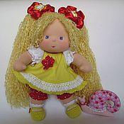 Куклы и игрушки ручной работы. Ярмарка Мастеров - ручная работа Сестричка в лимонном наряде 32 см. Handmade.