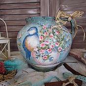 """Посуда ручной работы. Ярмарка Мастеров - ручная работа Старинный глечик """"Пахнет весной.."""". Handmade."""