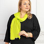 Аксессуары handmade. Livemaster - original item Lime-colored viscose scarf. Handmade.