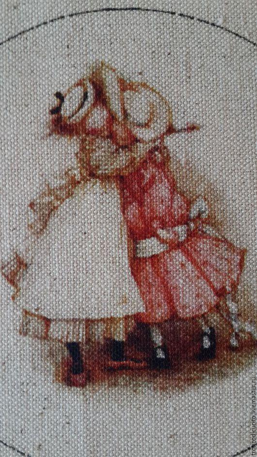 Шитье ручной работы. Ярмарка Мастеров - ручная работа. Купить Купон лён девочки. Handmade. Комбинированный, купонная ткань