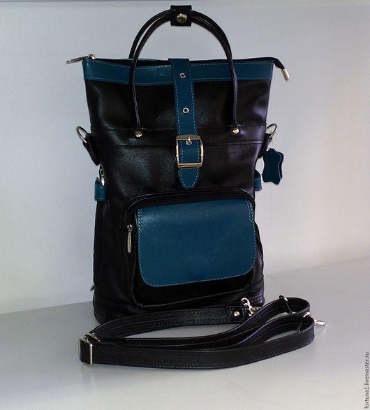 Рюкзаки ручной работы. Ярмарка Мастеров - ручная работа. Купить Рюкзак-сумка кожаный 142. Handmade. Рюкзак, сумка женская