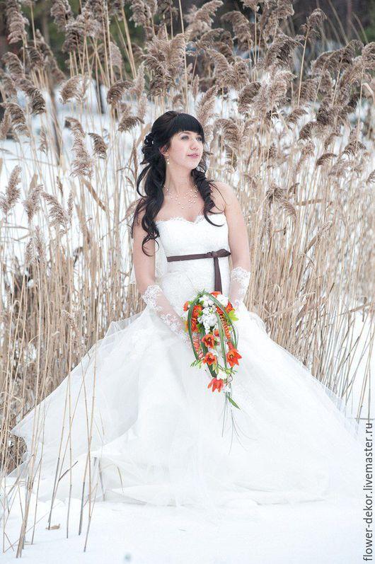 """Букеты ручной работы. Ярмарка Мастеров - ручная работа. Купить Букет невесты"""" Кружево"""". Handmade. Разноцветный, букет невесты, кружево"""