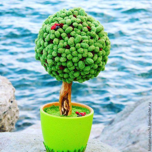 """Топиарии ручной работы. Ярмарка Мастеров - ручная работа. Купить """"Лесное"""". Handmade. Зеленый, топиарий дерево счастья, самшит"""