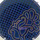 Декоративная посуда ручной работы. BLUE декоративная тарелка Точечная роспись. ADALINA-ART Точечная роспись. Интернет-магазин Ярмарка Мастеров.