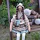 Куклы Тильды ручной работы. Ярмарка Мастеров - ручная работа. Купить Кукла Сильвия в стиле Тильда. Handmade. Бежевый, коричневый