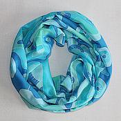 """Аксессуары ручной работы. Ярмарка Мастеров - ручная работа Шелковый шарф """"Волшебные одуванчики"""". Handmade."""