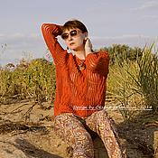 Одежда ручной работы. Ярмарка Мастеров - ручная работа Пуловер Терракотовый берег. Handmade.